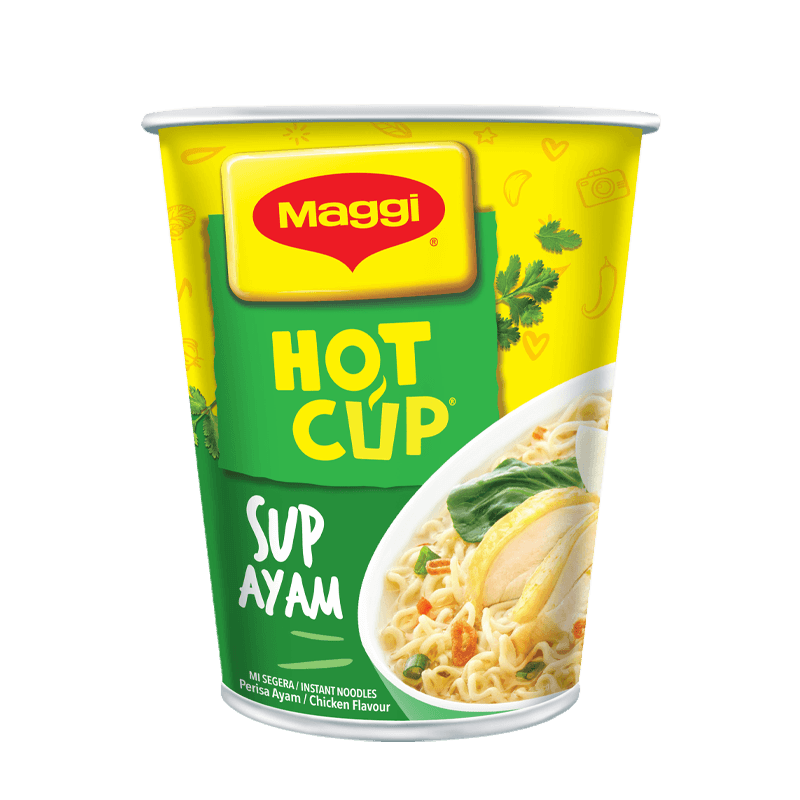 Maggi Hot Cup Sup Ayam 57g Atm Shopping